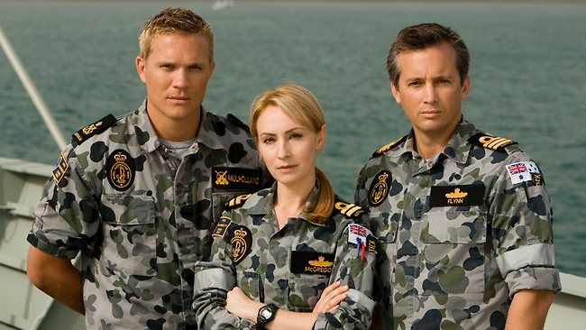 Conrad Coleby, Lisa McCune and Ian Stenlake in Australia TV series, Sea Patrol, 2007-2011.