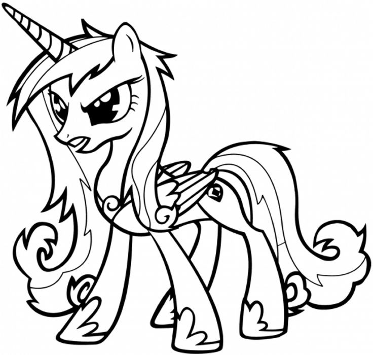 Angry Little Princess Cadence Coloring Pages My Pony