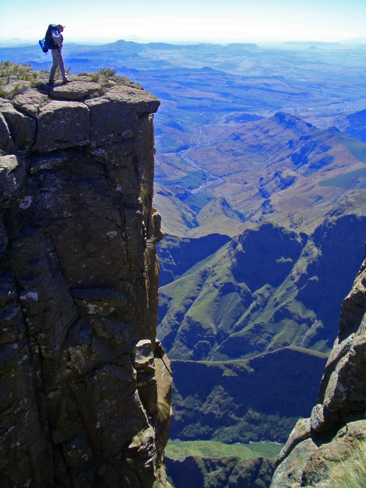 The majestic heights of the Maloti Drakensberg mountains.