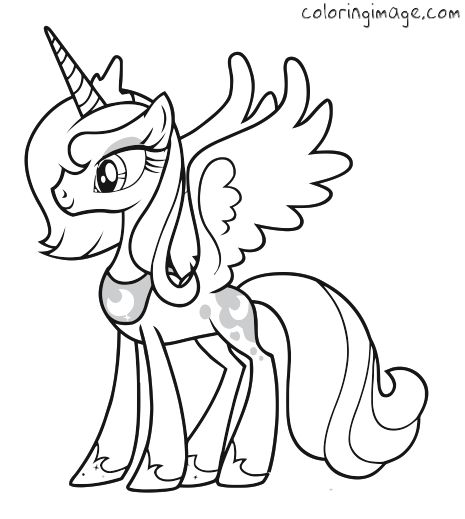 Coloring Pages Princess Pony : My little pony coloring page princess luna