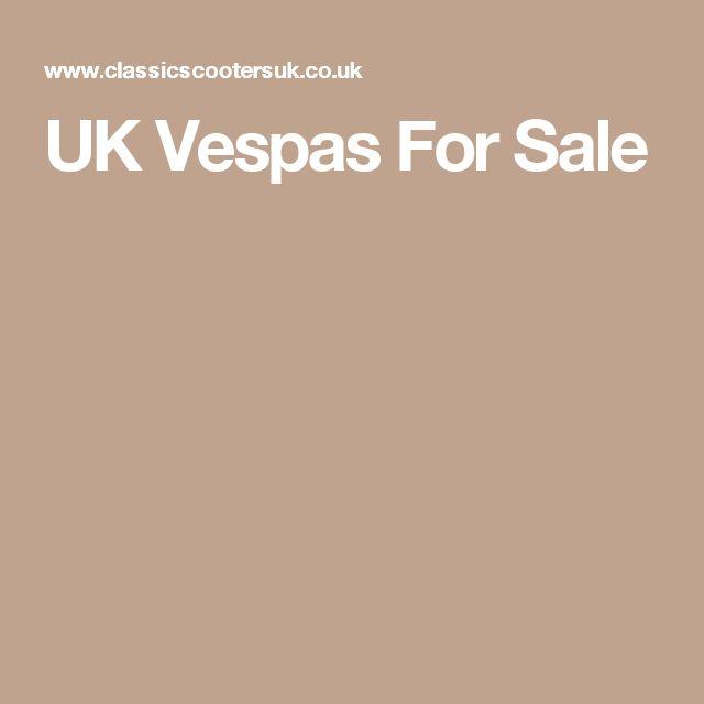 UK Vespas For Sale