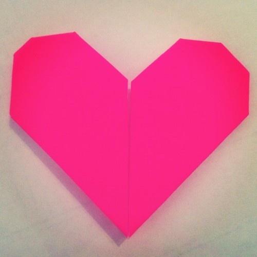 Origami heart, valentine :)