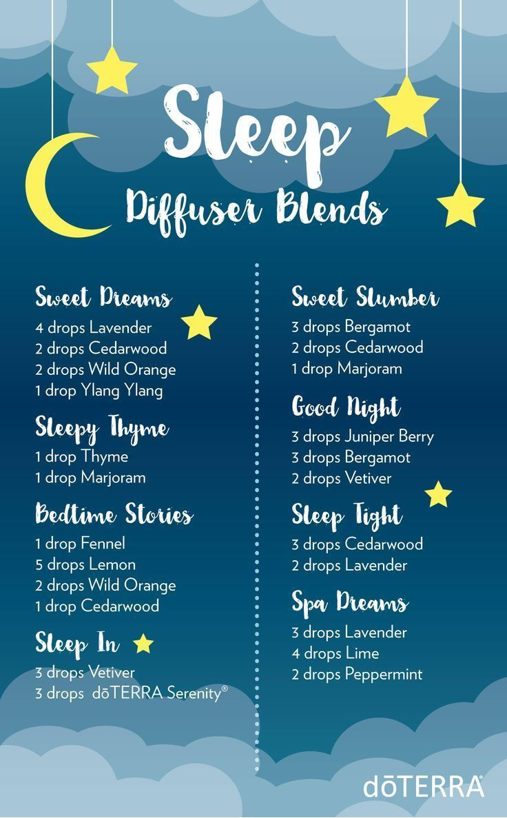 These diffuser blends will provide the perfect relaxing aroma to help you and your little ones drift off to sleep.
