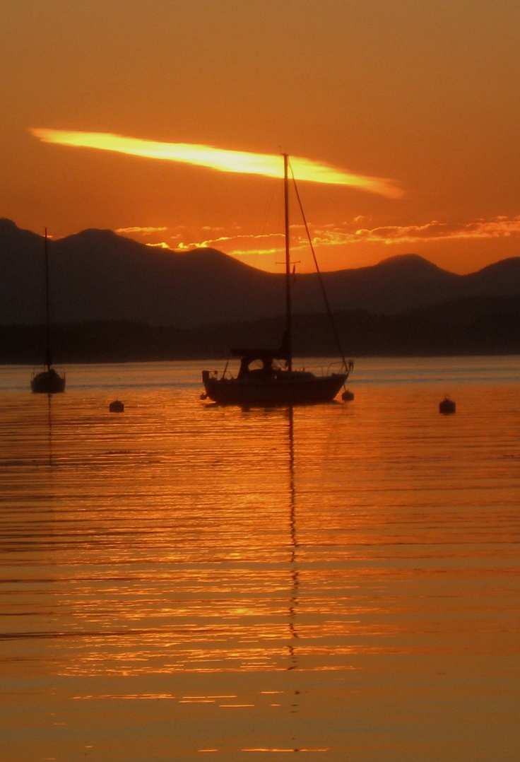 Dinner Bay Sunset   - Mayne Island, B. C.    - Connie's photo