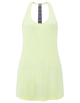 Fashioned from ultra-lightweight fabric, our t-back vest top from the Spirit of Accessorize collection is an essential in your athleisure wardrobe. Detailed ...