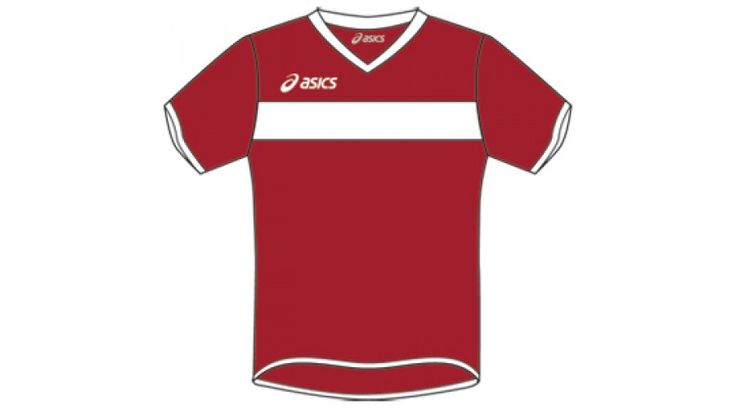 ASICS TS Torneo MC junior & unisex gyerek mez gránátpiros,fehér kézilabda és futball gyerek játékosok számára