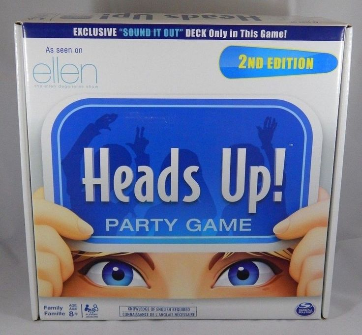 Heads Up Party Game 2nd Edition. As seen on the Ellen tv show 2-6 Players #SpinMasterGames