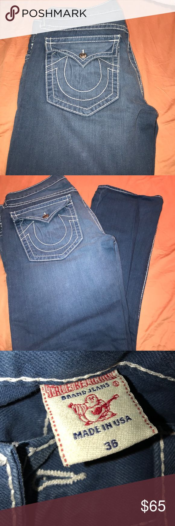 Great Condition True Religion Men Jeans True Religion Men Jeans Straight Fit Great Condition waist 35 length 32 True Religion Jeans Straight