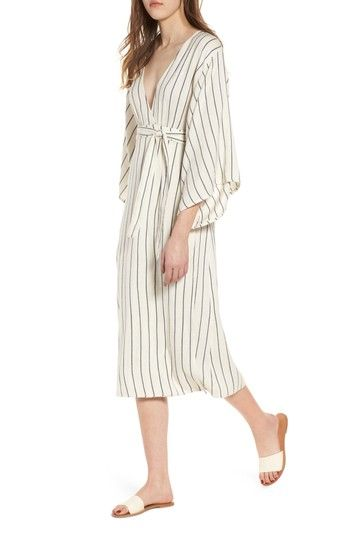 9fea1af211ab4 Free shipping and returns on Billabong Robe Life Striped Midi Dress at  Nordstrom.com. On the days you d rather not get out of bed, slip into …