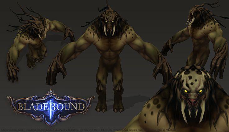 Bladebound Handpainted Forest Beast https://www.facebook.com/zunioart