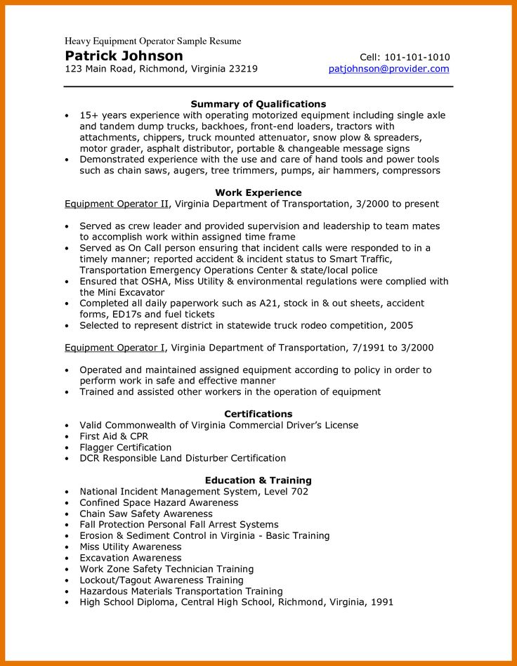 Certified forklift Operator Resume Awesome 9 10 Heavy