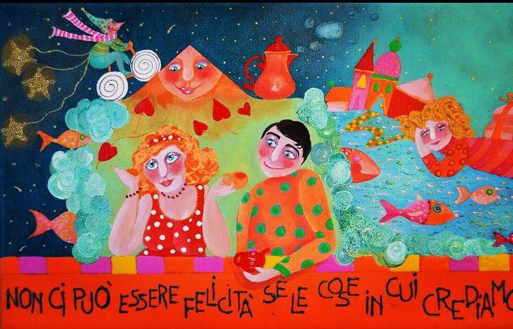 Alexia Molino - Non ci può essere felicità se le cose in cui crediamo sono diverse da ciò che facciamo (20x50 particolare)