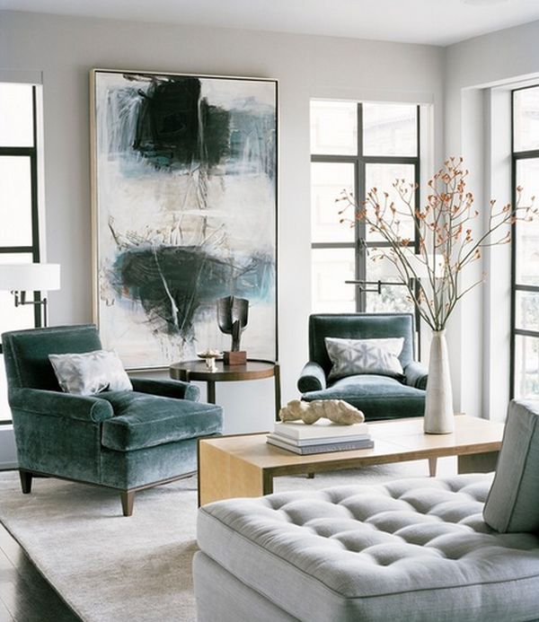 15 Tips On How To Make Your Ceiling Look Higher, use an art piece to fill the height on a section of the wall.