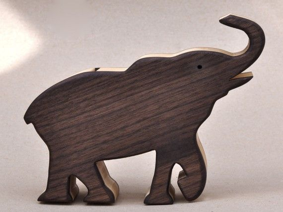 African Elephant Toys For Boys : Elephant piggy bank wooden waldorf toy for a child animal