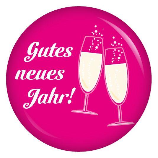 kiwikatze Button Gutes neues Jahr! Sektgläser