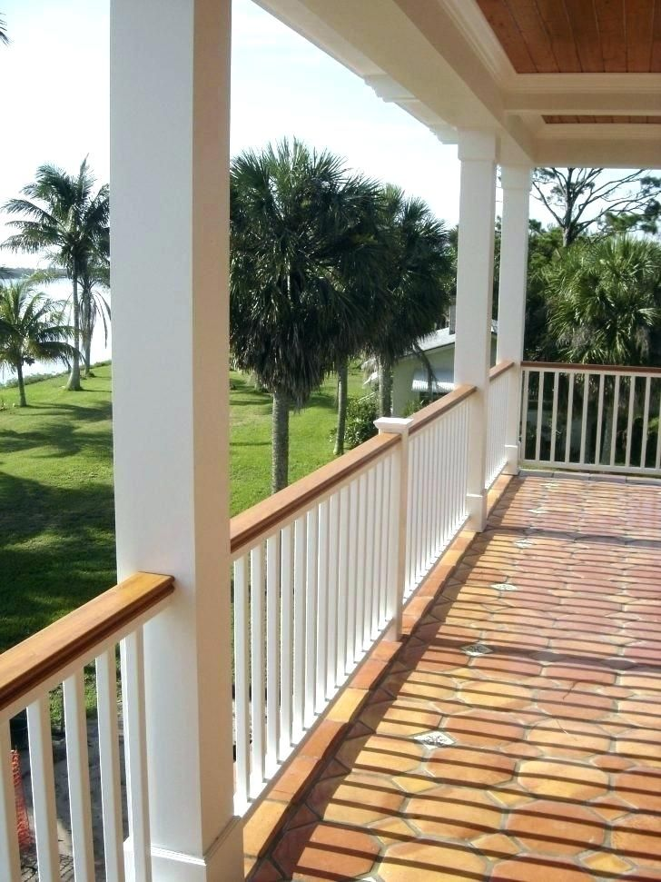 From Wood Deck Wrought Iron Lattice Panels And Steel Cable To Glass Panels Knee Walls And More We Have Plenty Porch Railing Porch Design House With Porch