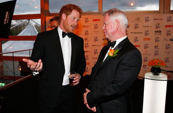 Prince Harry Photos - Prince Harry talks to a guest at the BT Sport Industry Awards 2016 at Battersea Evolution on April 28, 2016 in London, England. The BT Sport Industry Awards is the most prestigious commercial sports awards ceremony in Europe, where over 1750 of the industry's key decision-makers mix with high profile sporting celebrities for the most important networking occasion in the sport business calendar. - BT Sport Industry Awards 2016