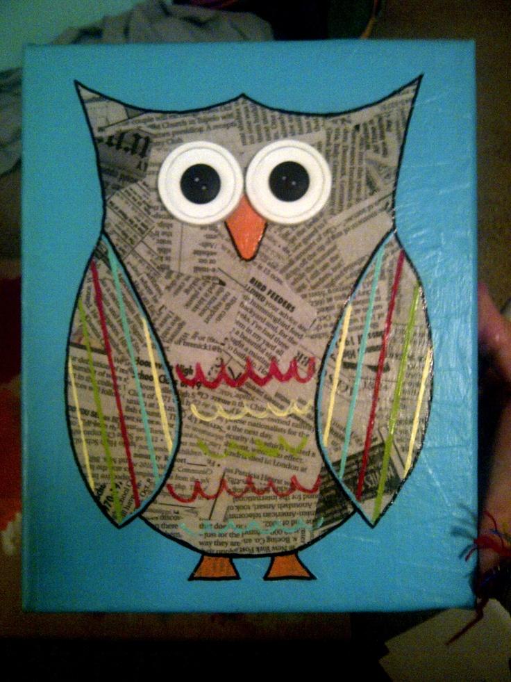 cute owl craft...@Ashley Gray