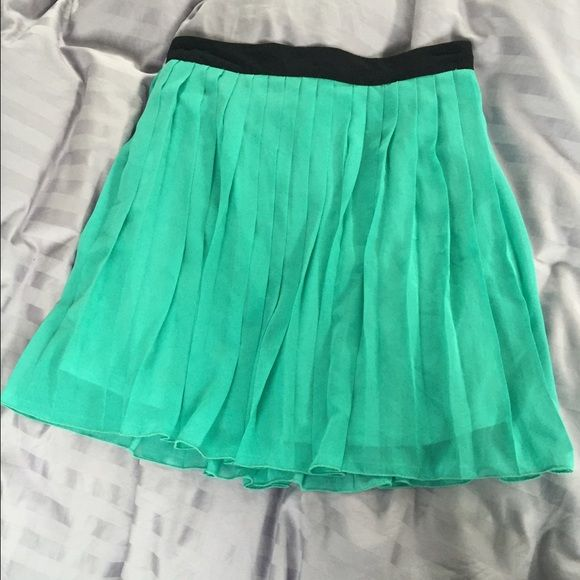 teal mint pleated skirt teal band and skirts