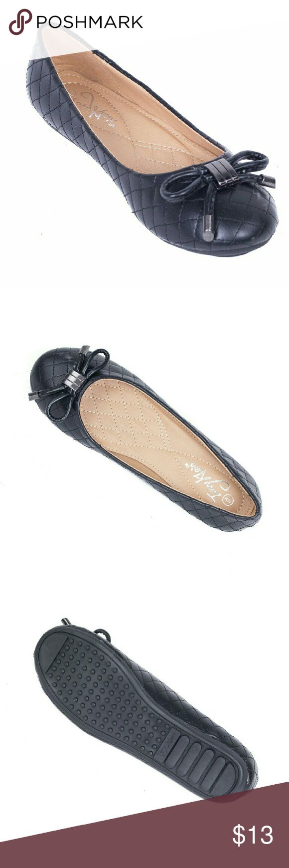Tory K Ballerina Flats with Bow, b-1608, Black Brand new Tory Klein quilted  black ballerina flats with a pretty bow in the front. Soft cushioned sole, very comfortable, true to size. Bubbled bottom sole for extra traction. Tory K Shoes Flats & Loafers