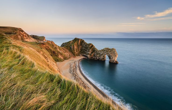 The Jurassic Coast covers 95 miles of truly stunning coastline from East Devon to Dorset, with rocks recording 185 million years of the Earth's history.