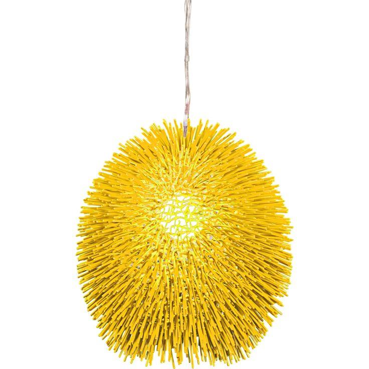 "Varaluz Urchin 13"" Wide Un-Mellow Yellow Pendant Light - Style # 9C664"