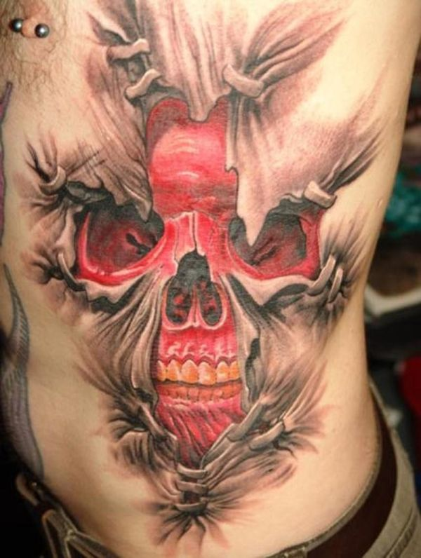 Skull tattoo that 39 s ok i never needed to sleep ever - Wicked 3d tattoos ...