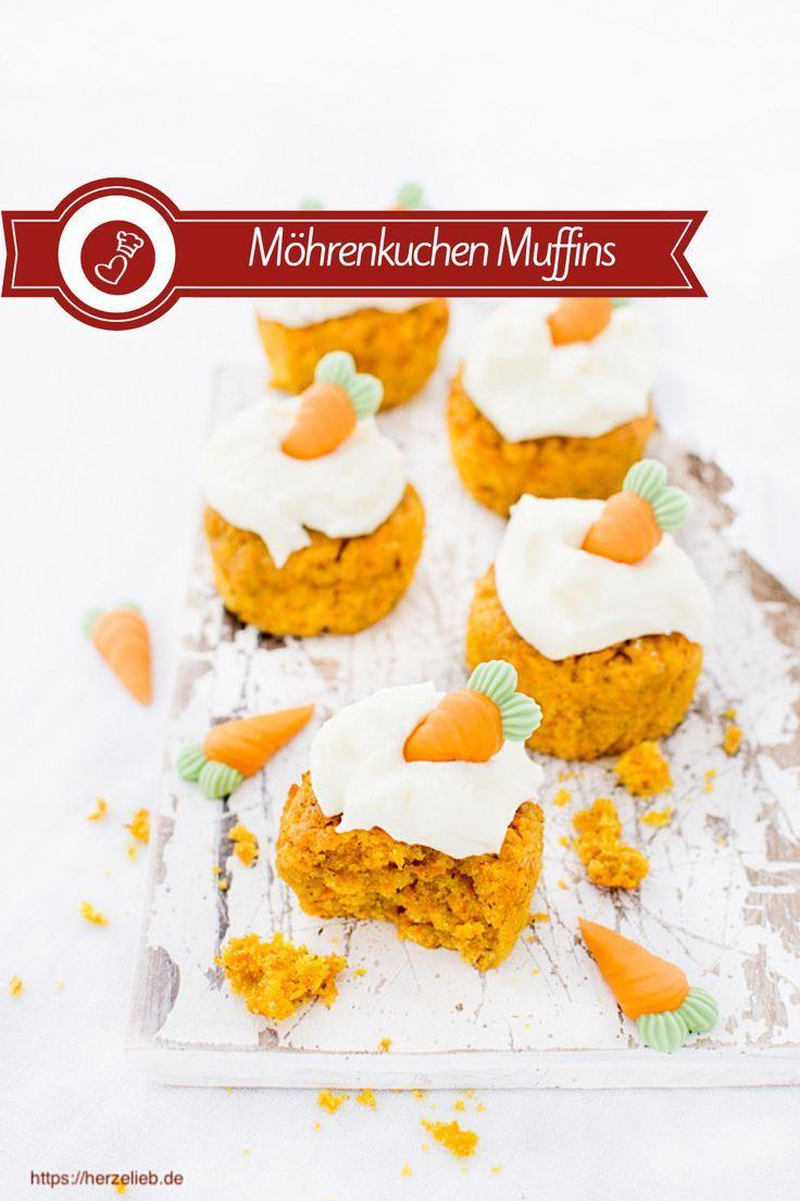 Karottenkuchen aus der Muffinform – Rezept