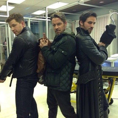 Colin O'Donoghue, Josh Dallas and Sean Maguire Behind the scenes Once Upon A Time
