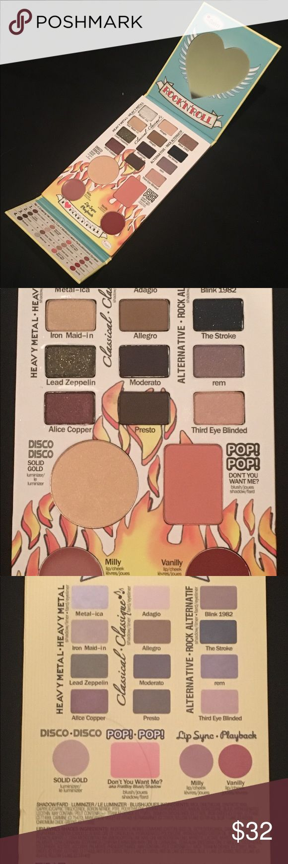New! theBalm Balm Jovi Rockstar Palette New in Box- Never Opened! This is the authentic, full size product.   Includes: 12 Eyeshadows, 1 Blush, 1 Luminizer, and 2 Lip/Cheek Stains  Feel free to make an offer or add to a bundle for savings. theBalm Makeup Eyeshadow