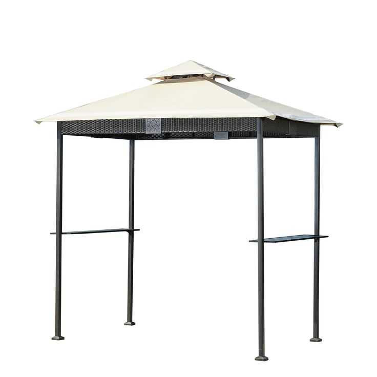 Sunjoy 110103002 Wicker Grill Gazebo