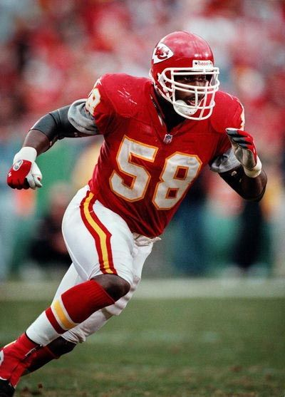 Kansas City Chiefs (NFL, Derrick Thomas era, 1990s): Best player, best look in franchise history.