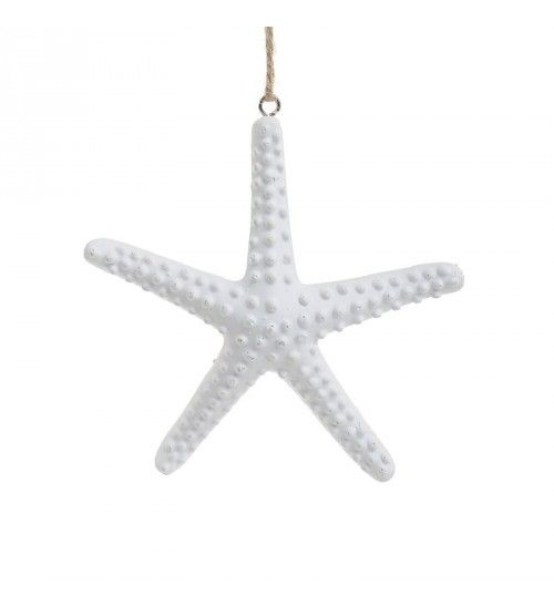 POLYRESIN HANGING STARFISH IN WHITE COLOR 13_5Χ1_5Χ64