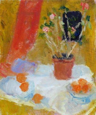 Alice Mumford - Pink Geranium and Oranges