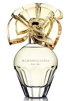 BCBG Max Azria Bon Chic:  black raspberry, mango and Asian pear, floral with notes of pink peony, violet and orange blossom,soft woods, vanilla and cashmere musk.