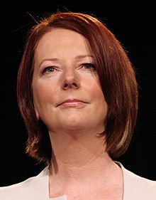 """Julia Gillard - Prime Minister of Australia:   """"Watching a female Prime Minister tear apart the male leader of the Opposition with such aplomb, composure – but most importantly armed with a brilliantly impressive set of insults – backed up with dates and times of when each shocking comment was said – was the best card Gillard, ever the political animal, could have played in such a situation.""""  -Emma Barnett, Women's Editor, Telegraph.co.uk"""