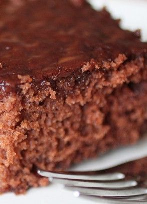 This Diet Coke Chocolate Cake is an original Skinny Mom recipe! It's so delicious and perfect for Diet Coke lovers! Repin so your don't lose this one of a kind healthy recipe!