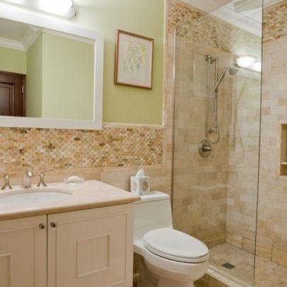 15 best images about tile bath on pinterest glass tile for Classic small bathroom ideas
