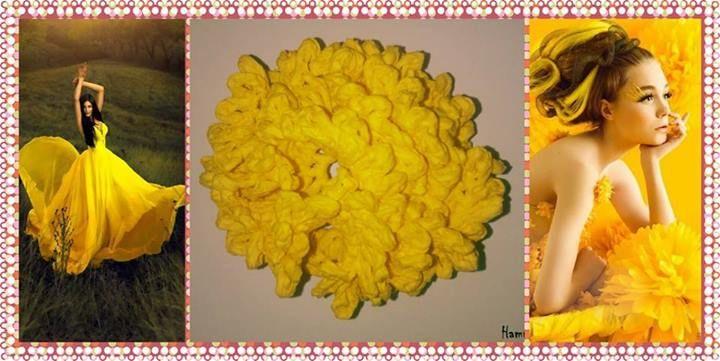 """Galben este culoarea aurului, a untului, a lamailor coapte, daaaar... si a brosei """"Garoafa"""" din colectia de accesorii Hammah Handmade, realizata din hartie creponata.   Mai multe detalii: http://hammah-handmade.wix.com/page#!Cod-FHC021/zoom/c1obw/image2jp"""