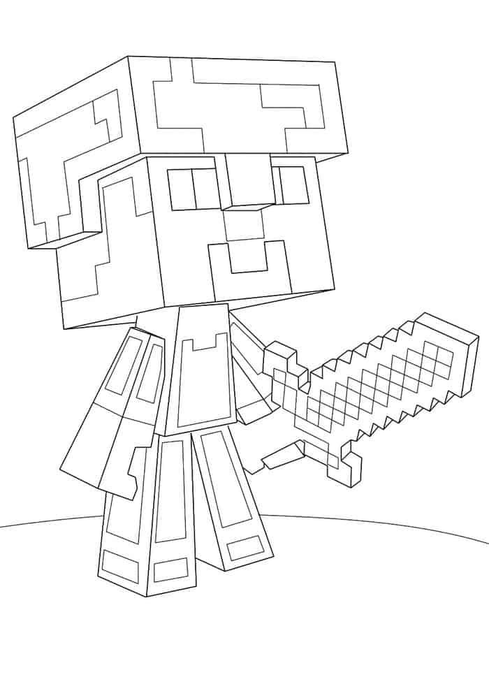 Minecraft Coloring Pages Online Design