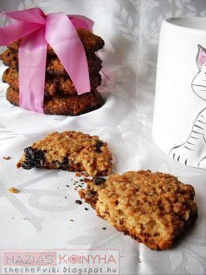 Házias konyha: Aszalt szilvás zabpelyhes keksz