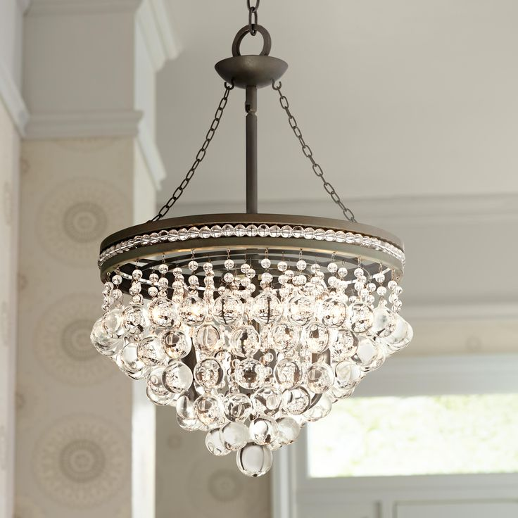 Regina Olive Bronze 19 Wide Crystal Chandelier