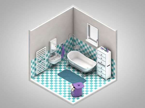 Isometric corners of my life by Petr Kollarcik, via Behance
