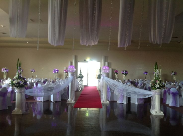 Make a statement with a red carpet lined walk way to your wedding reception. www.houseofthebride.com.au