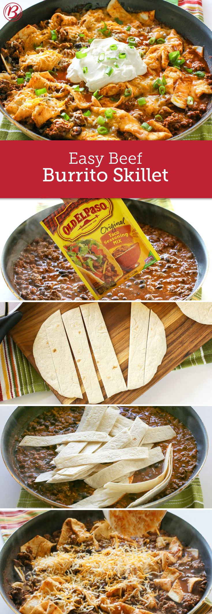 If you're on the hunt for a new easy dinner that totally delivers on flavor, this Easy Beef Burrito Skillet is your ticket. With just 20 minutes prep and 20 minutes cook time, this is a speedy spin on classic Mexican chilaquiles.