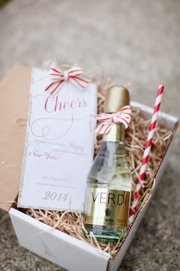 client gift ... Champagne, striped straws... Cassandre Snyder Events...Judith Rae Photography #clientgift #champagne #stripedstraws