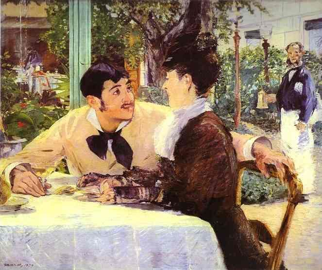 Champagne  Seduction - Chez le Père Lathuile by Edouart Manet