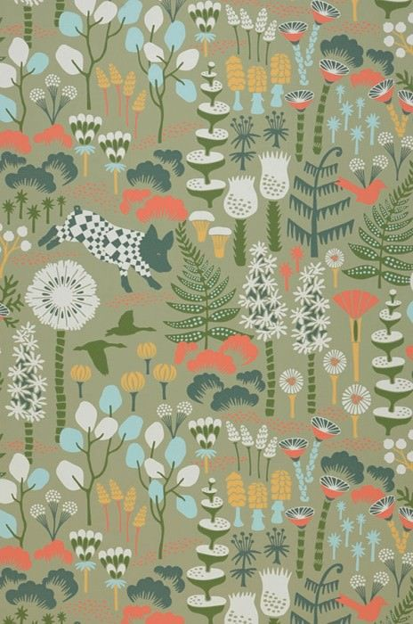$66.64 Price per roll (per m2 $12.50), Romantic wallpaper, Carrier material: Non-woven wallpaper, Surface: Smooth, Look: Hand printed look, Matt, Design: Leaves, Flowers, Animals, Basic colour: Pale green, Pattern colour: Pale blue, Blue Green, Cream, Leaf green, Orange, Characteristics: Good lightfastness, Low flammability, Strippable, Paste the wall, Wash-resistant