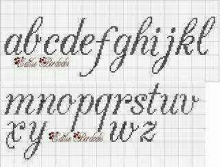 Lowercase cursive Cross Stitch