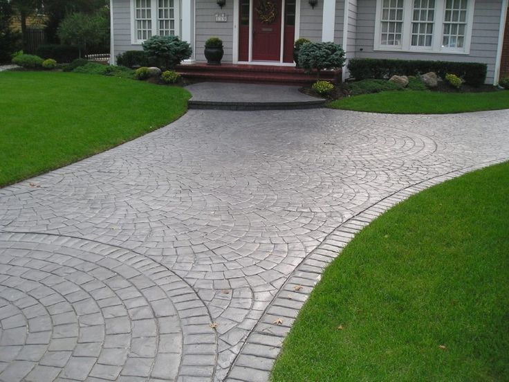 Best 25 stamped concrete driveway ideas on pinterest for Beton decoratif exterieur prix